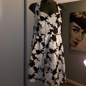City Chic size 22 black/white floral party dress
